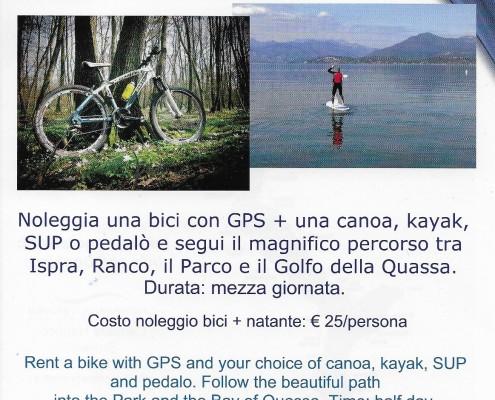 volantino bici + acqua